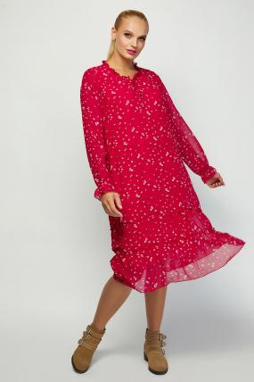 Платье Кармен красное