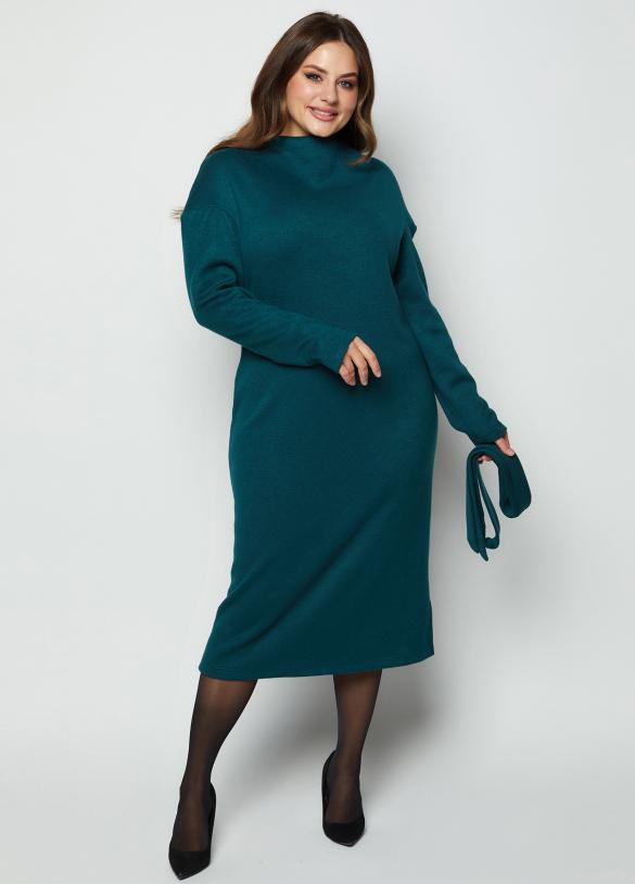 Платье Марсель изумрудное