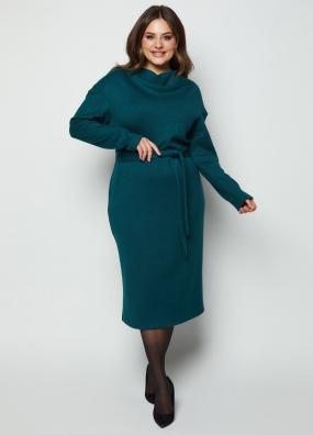 Платье Марсель изумрудное 4129