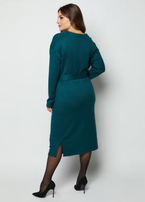 Платье Марсель изумрудное 4131