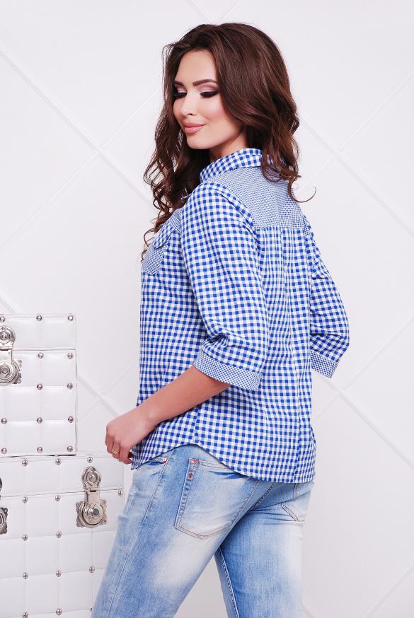 Рубашка голубой джинс Аленушка