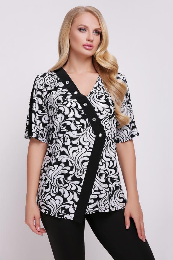 Блуза Игла (чорно-білий)