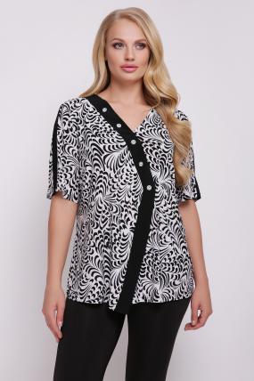 Блуза Игла (біло-чорний)