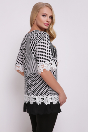 Блуза Рита (біло-чорний) 715