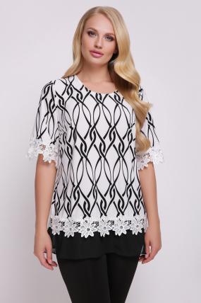 Блуза Рита (біло-чорний) 716