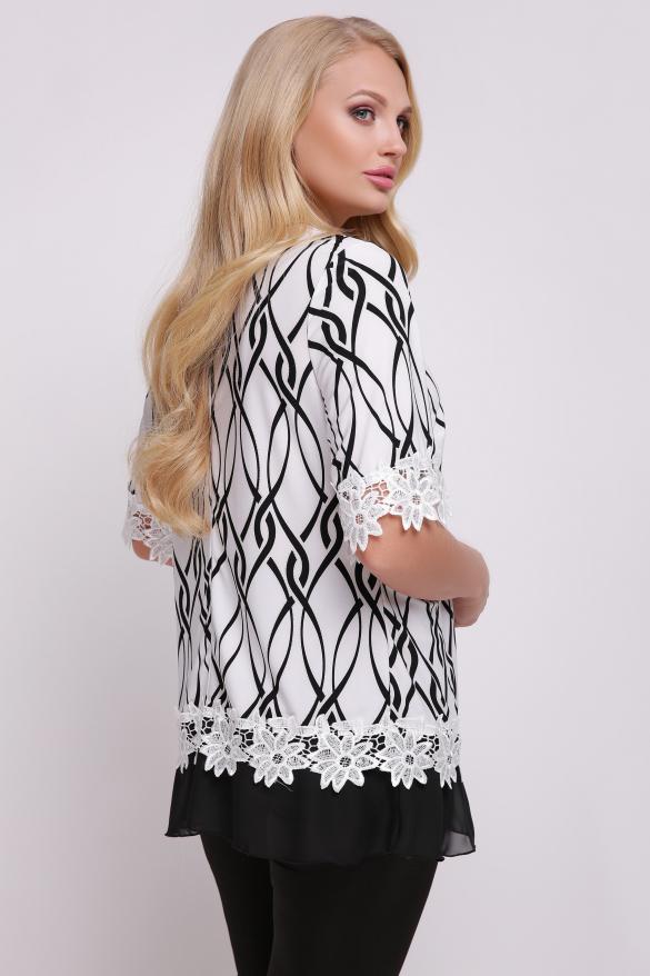 Блуза Рита (біло-чорний)