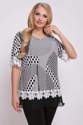 Блуза Рита (біло-чорний) 718