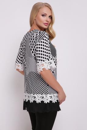 Блуза Рита (біло-чорний) 719