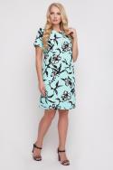 Платье Айза принт (мята)