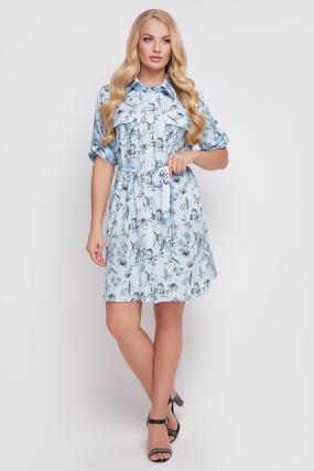Сукня-сорочка Стамбул (блакитний) 818