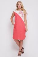 Платье Инь-Янь (коралловый)