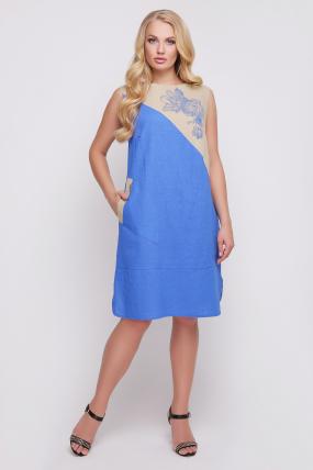 Сукня Інь-Янь (синій) 875