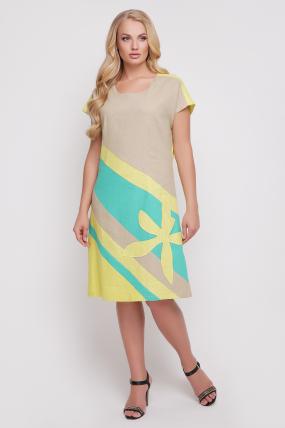 Сукня Цветик (жовтий) 879