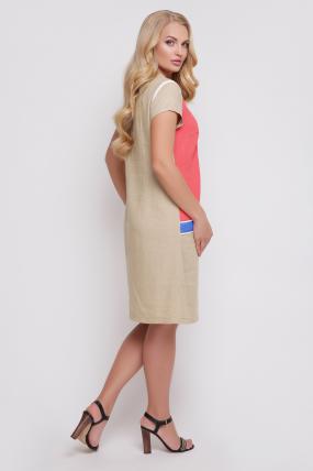 Сукня Веселка (кораловий) 898
