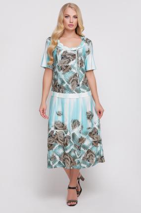 Сукня Бульбашка (бірюзовий) 940